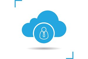 Cloud storage user icon