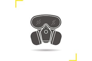 Gas mask glyph icon