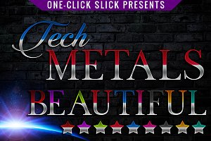 Tech Metals Styles for Photoshop