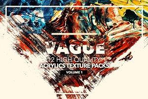 Vague I: 12 Acrylics Textures