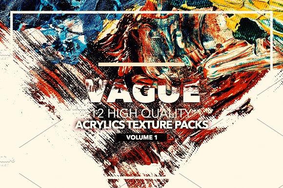 Vague I 12 Acrylics Texture Packs