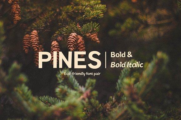Pines Bold Pines Bold Italic
