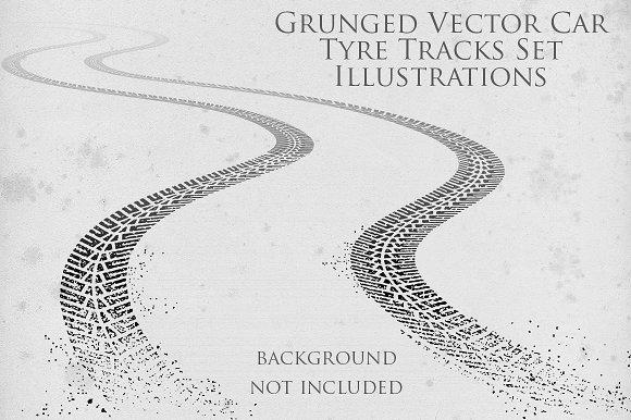 Grunge Tyre Tracks Illustrations