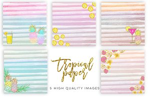 Tropical Pineapple Summer paper
