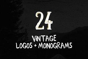 24 Vintage Logos + Monograms Pack