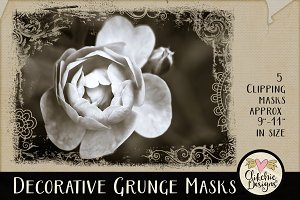 Decorative Grunge Photoshop Masks