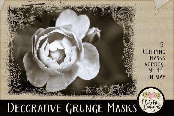 Decorative Grunge Clipping Masks