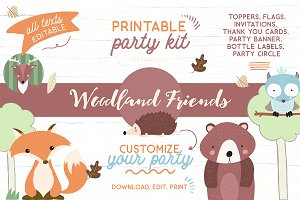 Woodland Printable Party KIT