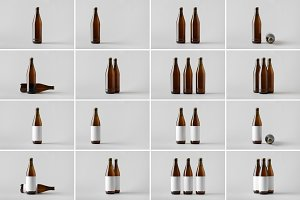 Beer Bottle Mock-Up Photo Bundle 8