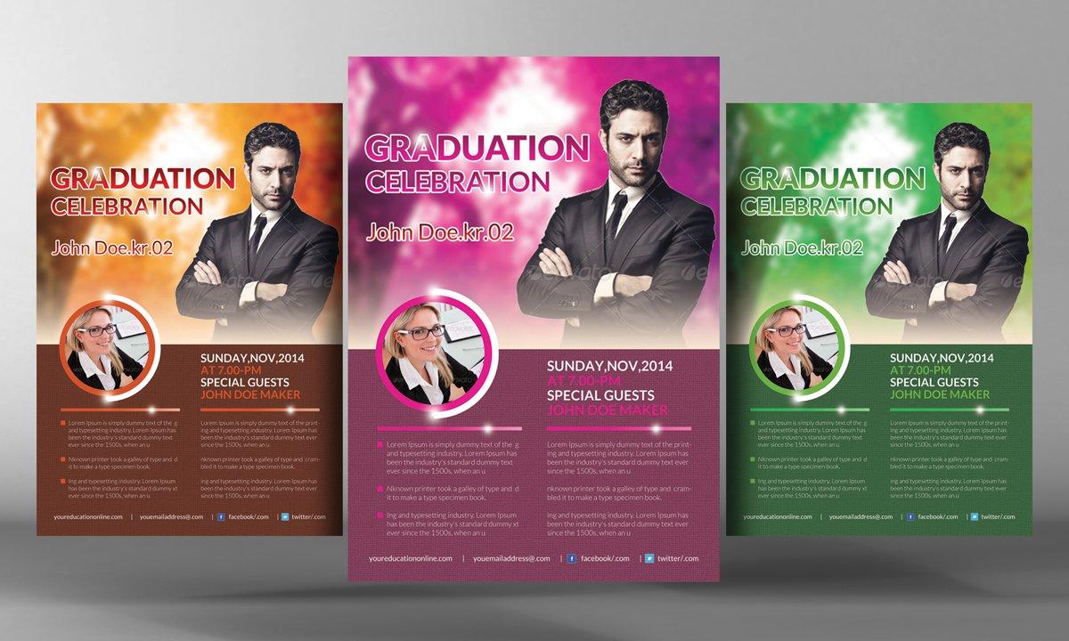Pastor 39 s graduation ceremony flyer flyer templates for Graduation brochure templates