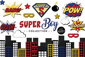 SuperBoy Graphics & Patterns