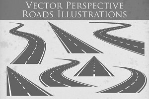 Vector Roads Illustrations