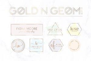 Gold'n'Geom Premade Logo Bundle