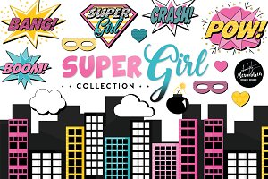 SuperGirl Graphics & Patterns
