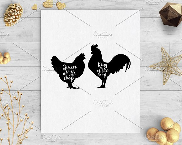 King And Queen Of The Coop Png Svg