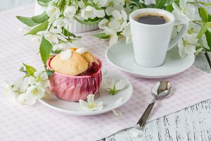 muffin and cup of tea