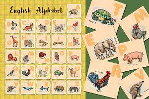 animal English alphabet