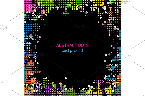Disco Colorful Dots Background