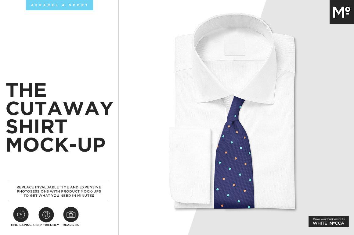 The Cutaway Shirt Mock Up Creative Photoshop Templates Creative Market