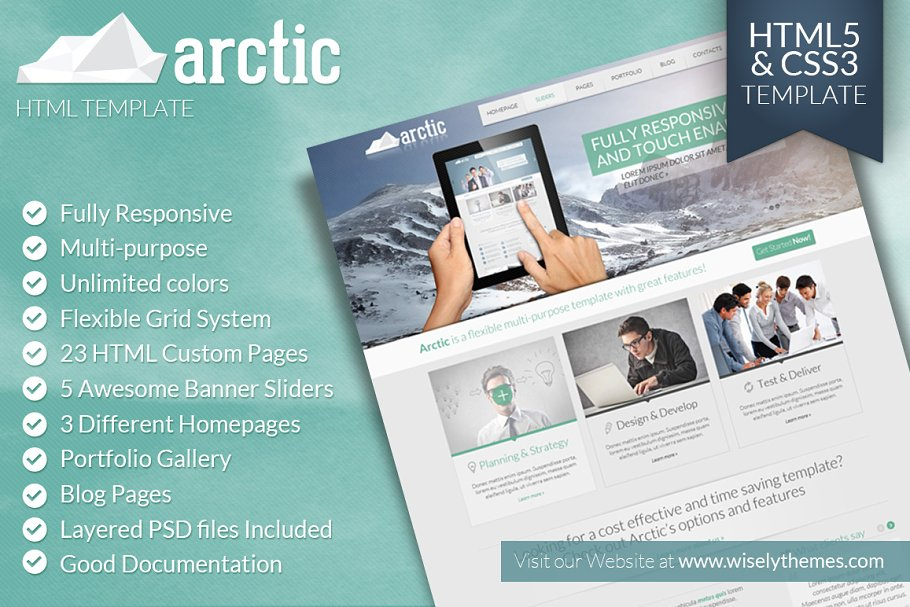 Arctic - Responsive HTML5 Template ~ HTML/CSS Themes