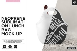 Neoprene Lunch Bag Mock-up