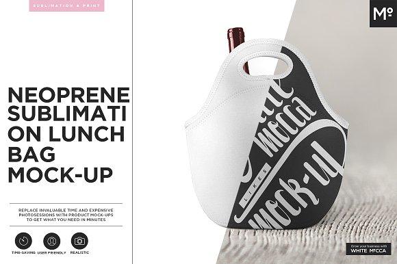 Download Neoprene Lunch Bag Mock-up