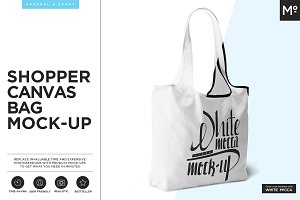 Shopper Canvas Bag Mock-up
