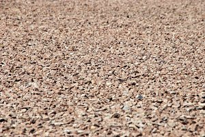 red gravel background
