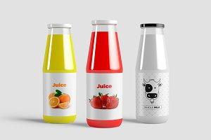 Juice Bottle  Mock-Up