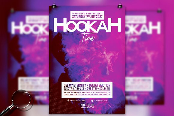Hookah Time 2.0 Flyer Template