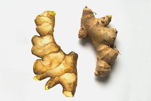 Ginger Root Watercolor Illustration