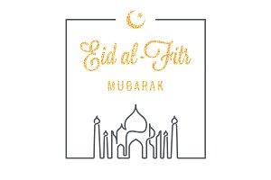 EID Mubarak logo line concept