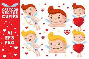 Cartoon Vector Cupids