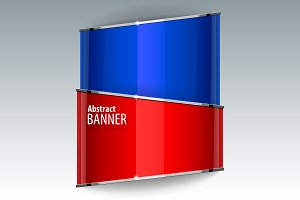 Abstract Shiny gloss red banner