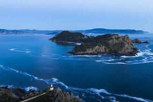Beautiful landscape of rocks in ocean