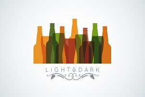 beer bottle glass logo banner