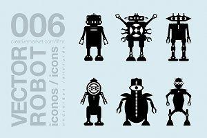 robots flat icons 003