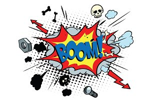boom comic pop art bubble
