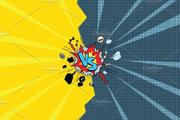 Vs Versus Comic Pop Art