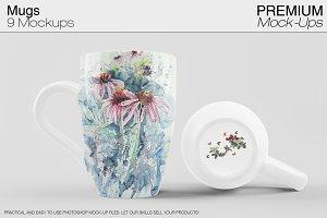 Mug Mockups 9 PSD JPG PNG Variants