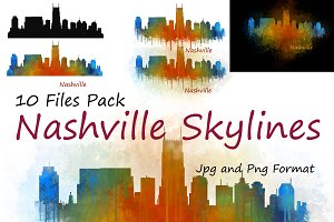 10xFiles Pack Nashville Skylines