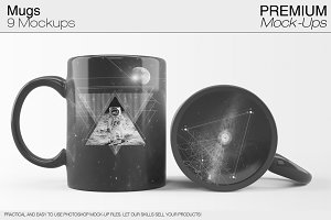 Mug Mockups - 9 PSD Templates
