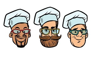 Head chefs multi-ethnic group