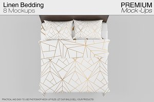 Linen Bedding Mockup Set
