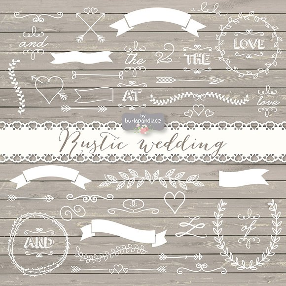 Vector Rustic Wedding Illustrations Creative Market