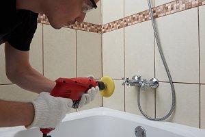 Professional polishing bathroom
