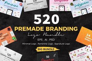 520 Premade Logo Bundle + Bonus