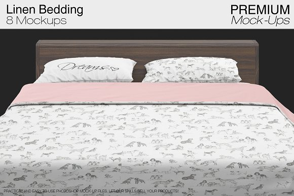 Download Linen Bedding Mockup Set