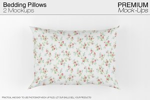 Bedding Pillows Mockup Set