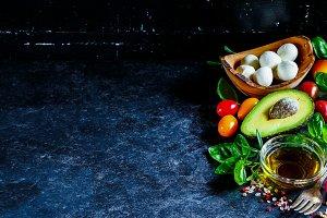 Mediterranean cuisine concept